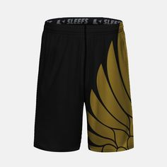 Icarus Black and Gold Kids Shorts