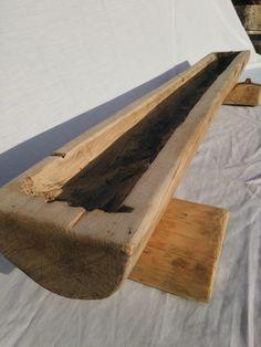jardinera hecha con un tronco baciado