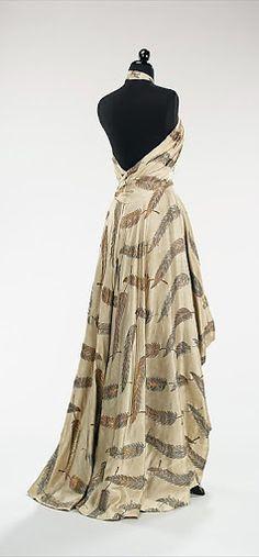 ~Charles James Dress - back - 1936 - by Charles James (American, born Great Britain, 1906-1978) - Silk, metal - The Metropolitan Museum of Art~