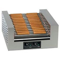 26 Hot Dog Double Diggity® Hot Dog Grill - Gold Medal 8224 Dual temperature controls. Slanted rollers. Compact design.  #Gold_Medal #Kitchen
