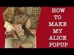 Alicia Wonderland, Alice In Wonderland Crafts, Birthday Scrapbook, Mini Scrapbook Albums, Mini Albums, Fancy Fold Cards, Folded Cards, Card Making Tutorials, Making Ideas