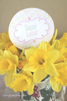 Happy Easter Free Party Printables via LivingLocurto.com