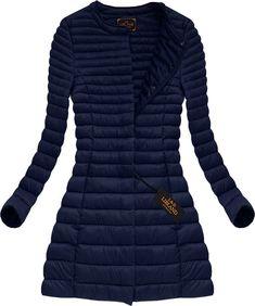 Dlhá dámska prechodná bunda modrá x7148X Dresses With Sleeves, Blazer, Outfit, Long Sleeve, Sweaters, Jackets, Women, Fashion, Fashion Clothes
