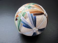 """kumo temari: """"wishing papers""""—kind of  Temari are thread wrapped balls, a Japanese traditional craft."""