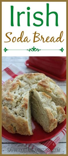 Homemade Irish Soda Bread recipe is the perfect addition to your St. Patricks Day Dinner or anytime, and SO easy to make! #dessertfoodrecipes