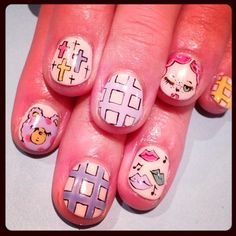 Foxy nails  #avarice #art #kayo #design #nails #nailart #nailsalon #foxy (NailSalon AVARICE)