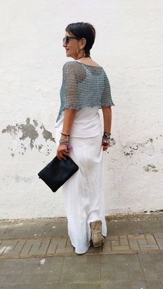 Chal de algodón top de mujer de verano chal para boda | Etsy Summer Cover Up, Thin Ribbon, Ribbon Yarn, Wide Pants, Poncho Sweater, The Chic, Lace Skirt, Etsy, Summer Dresses