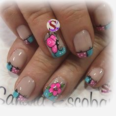 Nail Tips, Nail Ideas, French Tip Nails, Nail Designs Spring, Gorgeous Nails, Toe Nails, Summer Nails, Hair And Nails, Manicure