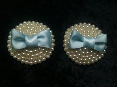 Something Blue Pearl Bridal Nipple Pasties with Bows