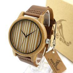 Luxury Brand Leather Men's Women's Watches Casual Wooden Quartz Watch - The Big Boy Store