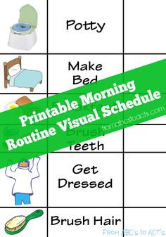perfect for esl or efl- morning routines…brush teeth,get dressed, etc