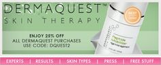 Who doesn't love a good deal? DermaQuest Skin Therapy USA and I have teamed up to give you 25% off all DermaQuest purchases on our site!   My favorite DermaQuest product would have to be their K-Q10 Firming Cream. This product really helps to fight against environmental damage, all while providing essential nourishment to your skin!  Get the offer at www.skincarebyalana.com/dermaquest.html