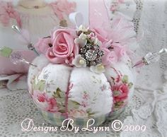Image detail for -Pink Roses Shabby Romantic Pin Cushion Confection 62 Designs By Lynn ...