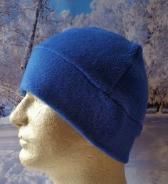 Royal Blue Beanie, Blue Beanie Hats, Royal Blue Fleece Hats, Winter Hats for…