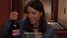 April Ludgate and her alcohol / Parks and Recreation / Parks And Rec Quotes, Parks And Recs, Tv Quotes, Movie Quotes, Jean Valjean, Parks And Recreation, Victor Hugo, April Ludgate Quotes, Rock And Roll