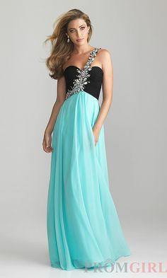 Black Blue Jeweled One Strap Night Moves 6617 Prom Dress [black ...