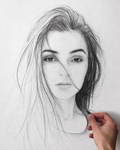 pencil portrait Eclectic Mixture of Pencil Drawings. Click the image, for more art by Andriy Markiv. Portrait Au Crayon, Pencil Portrait Drawing, Pencil Sketch Drawing, Realistic Pencil Drawings, Girl Drawing Sketches, Girly Drawings, Art Drawings Sketches Simple, Portrait Sketches, Pencil Art Drawings