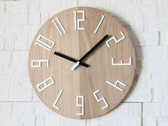 Wand Wanduhren Uhr Holz Uhr große Wand Uhr Geschenk von ModernClock