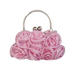 Gorgeous Silk Evening Handbags/ Clutches/ Top Handle Bags/ Wristlets More Colors Available – USD $ 11.99