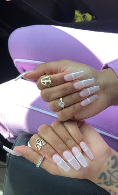 25 most impressive ombre black long acrylic coffin nails create your best impression today 00181 Aycrlic Nails, Coffin Nails, Stiletto Nails, Gorgeous Nails, Pretty Nails, Nail Polish, Fire Nails, Best Acrylic Nails, French Tip Acrylic Nails