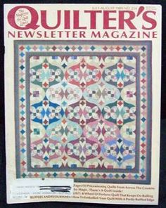 Quilter�s Quilters Newsletter Magazine #214 1989 July