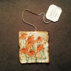 ruby silvious art — [[MORE]] 363 days of tea. Tea Bag Art, Tea Art, Coffee Filter Art, Paper Art, Paper Crafts, Used Tea Bags, Anne With An E, Handmade Tags, Tea Stains
