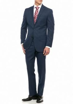 MICHAEL Michael Kors Blue Slim Fit Windowpane 2-Piece Suit