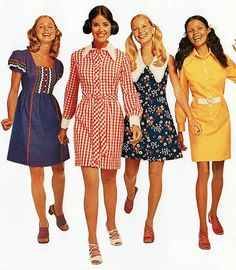 A vibrant group of 70's gals.