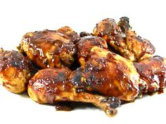The Best Barbecued Chicken With an Amazing Homemade Sauce...What makes this chicken de-licious is the incredible sauce! It's a little sweet and a little spicy. Each skinny piece has about 141 calories, 3 grams of fat and 3 Weight Watchers POINTS PLUS