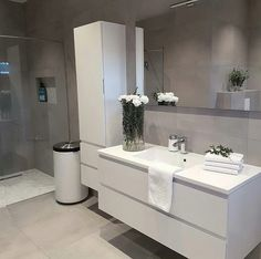 18 Beautiful Half Bathroom Ideas to Inspire You Banyo dekorasyonu Home Room Design, Interior Design Living Room, House Design, Nordic Interior Design, Small Bathroom Storage, Bathroom Design Luxury, Bathroom Toilets, Beautiful Bathrooms, Bathroom Inspiration