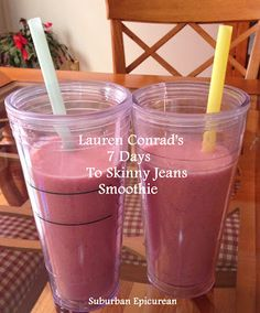 Lauren Conrad's 7 Days to Skinny Jeans SMOOTHIE - tried & tested