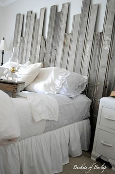 Rustic Headboard Made From Repurposed Old Barn Wood