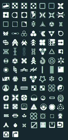 ArtStation - 100 Retro Futuristic Icon Brushes, David Edwards