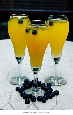 Mango Blueberry Champagne