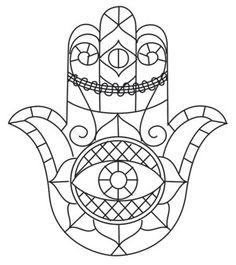 Sketched Hamsa design (UTH10819) from UrbanThreads.com