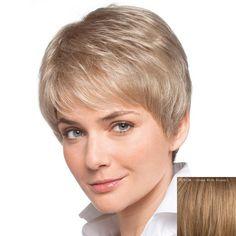 Women's Inclined Bang Short Human Hair Wig #jewelry, #women, #men, #hats, #watches, #belts, #fashion