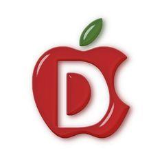 Alphabet in Apples. Alphabet Letters Design, Alphabet And Numbers, Letter Art, Apple My, Red Apple, Apple Wallpaper, Love Wallpaper, Monogram Tattoo, Alphabet Wallpaper