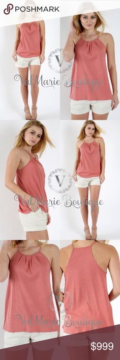 COMING SOON - ASHY MAUVE RIBBED TANK RIBBED FRONT PLEAT SPAGHETTI TANK   Fabric: 60% POLYESTER 40% COTTON - FITS TRUE TO SIZE. Cute ribbed design but nice and lightweight for spring and summer. Available sizes: S(2-4) M(6-8) L(10-12) ValMarie Boutique Tops