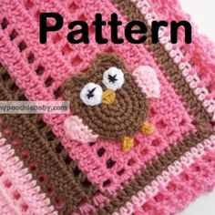 Crochet Owl Receiving Blanket Pattern