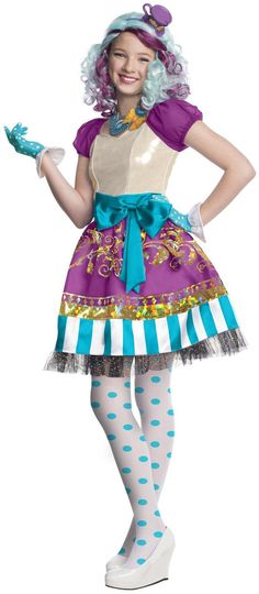 Ever After High - Madeline Hatter Girls Costume, 806758