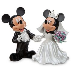 Mickey and Minnie Mouse collectible wedding figurines #Disney