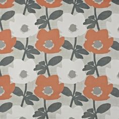 Prestigious Textiles Bermondsey mango cotton curtain fabric available from our online fabric shop or fabric warehouse in Northamptonshire. Cotton Curtains, Curtain Fabric, Cotton Fabric, Floral Motif, Floral Design, Stuart Graham, Prestigious Textiles, Roman Blinds, Mango