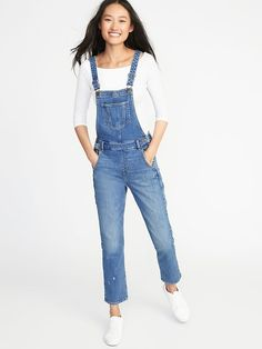 Straight-Leg Jean Overalls for Women - Women Straight Jeans - Ideas of Women Straight Jeans - Straight-Leg Denim Overalls for Women Women's Straight Jeans, Toddler Girl Style, Denim Overalls, Women's Jeans, Old Navy Women, Girls Shopping, Maternity Fashion, Girl Fashion, Womens Fashion