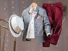 Βαπτιστικό κοστούμι Vinteli - Κωδικός 3502 Denim, Coat, Jackets, Fashion, Down Jackets, Moda, Sewing Coat, La Mode, Coats