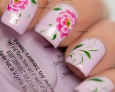 Lilac Daisy Flower Nail Art Water Transfer Decal by Hailthenails