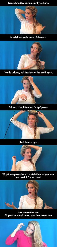 How to style your hair like Elsa from   Frozen. The braid and the coronation hair