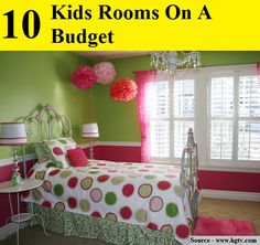 10 Kids Rooms On A Budget...For more creative tips and ideas FOLLOW https://www.facebook.com/homeandlifetips