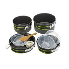 Lixada Portable Outdoor Tableware Camping Cookware Set 2-3 People Multifunctional Cauldron Pot Frying Pan Spoons Bowls Set for Picnic Cooking: Amazon.co.uk: Sports & Outdoors