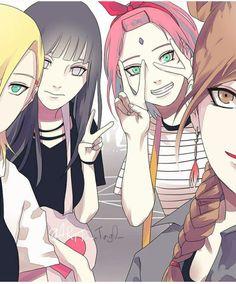 naruto imagenes - sakura ino y hinata Naruto Uzumaki, Naruto And Sasuke, Naruhina, Gaara, Anime Naruto, Art Naruto, Naruto Cute, Naruto Girls, Sasuke Uchiha
