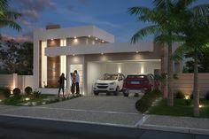 Projeto de casa térrea com 3 quartos